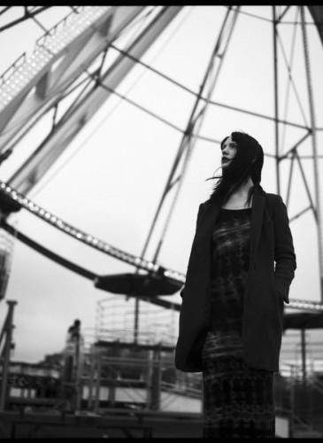 Irish model Suzi Coombs, black and white ireland.