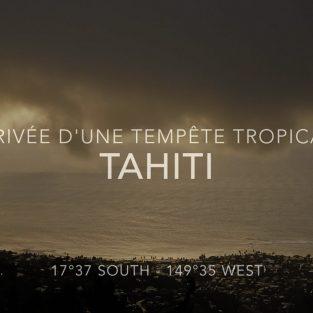 Arrivée d'une tempête tropicale en Polynésie