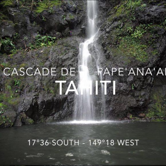 La cascade de Pape'ana'ana et ses sculptures à Hitia'a – Tahiti