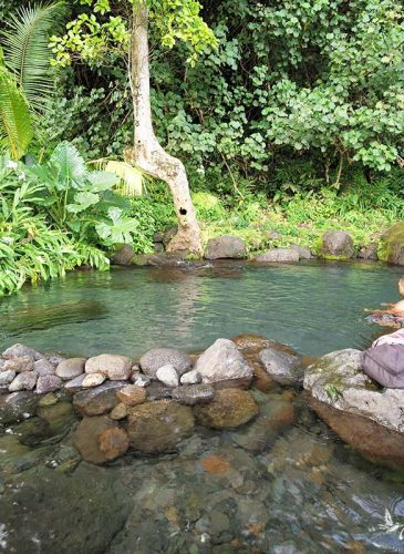 La source Vaima à Tahiti