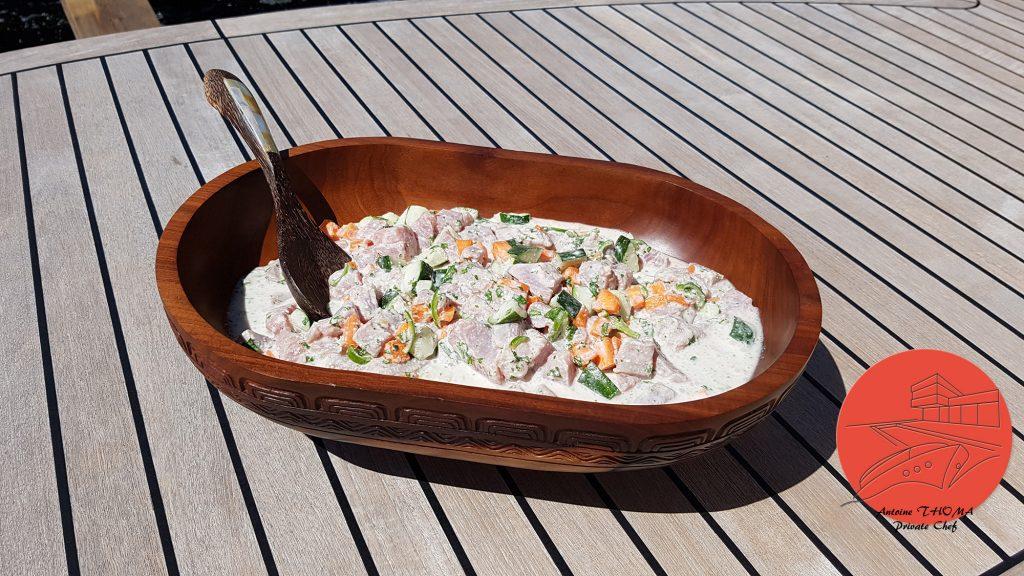 Yachting : les recettes de S/Y Levante, le poisson cru au lait coco d'Antoine Thoma