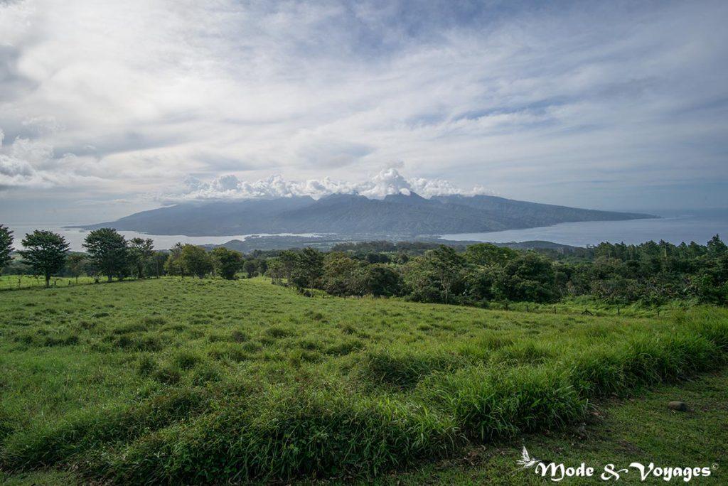 Le belvédère du plateau de Taravao
