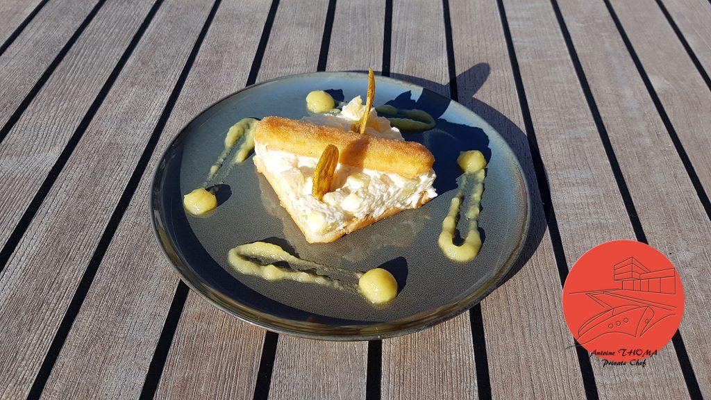 Les recettes du yacht S/Y Levante, la charlotte à l'ananas d'Antoine Thoma